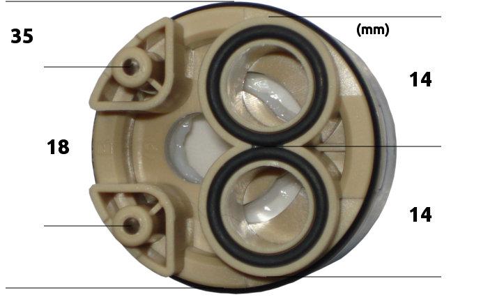 Repuesto monomando tres vias osmosis inversa for Grifo osmosis 3 vias