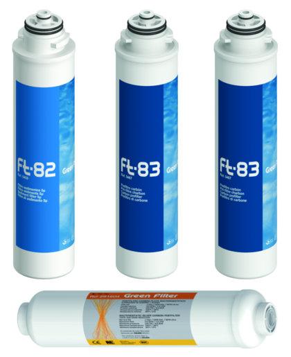 Pack 4 filtros osmosis inversa compacta ft plata - Filtros de osmosis ...