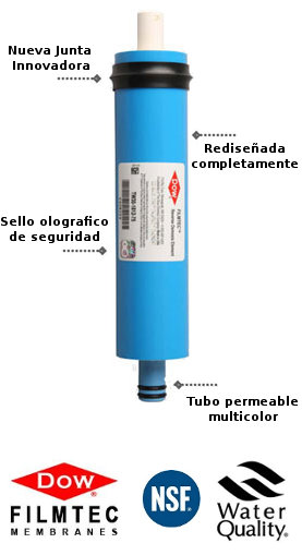 Membrana osmosis inversa 50 gpd filmtec for Membrana osmosis inversa