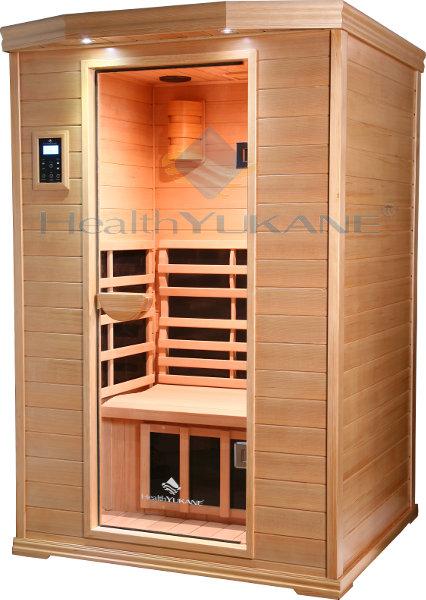 Sauna infrarrojos 2 personas lujo nanocarbono y madera de - Madera para sauna ...