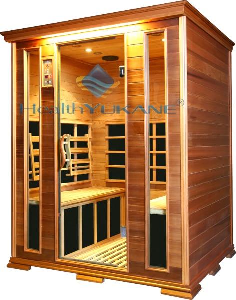 Sauna infrarroja 4 plazas con infrarrojos de carbono y - Madera para sauna ...