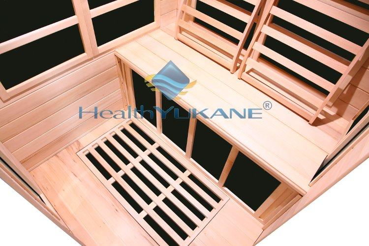 Sauna rayos infrarrojos de 2 3 plazas de esquina con - Madera para sauna ...