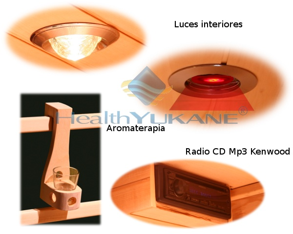 Sauna infrarrojos sauna infrarrojos carbono 2 personas - Tipos de saunas ...