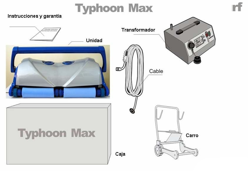 Typhoon max limpiafondos autom tico for Limpia piscinas automatico